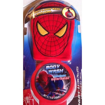 The Amazing Spiderman Web Slingin' Bath Mitt & Body Wash with Pump Set