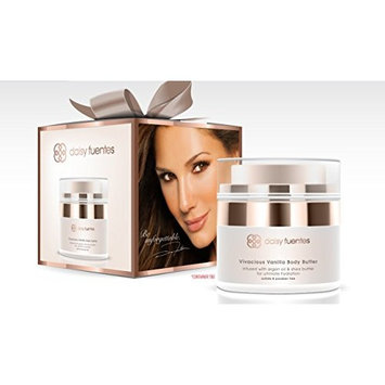 Daisy Fuentes Vivacious Vanilla Scented Body Butter Infused With Argan Oil & Shea Butter [Vivacious Vanilla Scented]