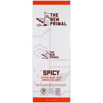 The New Primal, Grass-Fed Beef Sticks, Spicy, 20 Sticks, 1 oz Each [Flavor : Spicy]