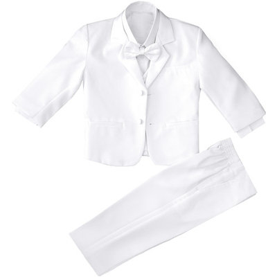 Toddler and Infants Boys White Tuxedo with No Tail