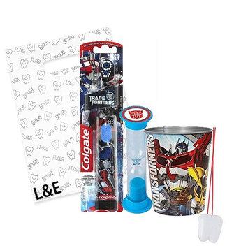 Transformers 3pc Bright Smile Oral Hygiene Bundle! Turbo Powered Toothbrush, Brushing Timer & Mouthwash Rinse Cup! Plus Dental Gift & Remember to Brush Visual Aid!