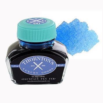 Thorntons Luxury Good Thornton's Luxury Goods Fountain Pen Ink Bottle, 30ml, Pack of 12 - Turquoise