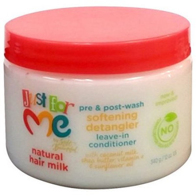 Just For Me by Soft & Beautiful Natural Hair Milk Softening Detangler Leave-In Conditioner, 12 oz