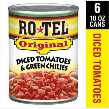 Conagra Brands RO*TEL Original Diced Tomatoes & Green Chilies, 10 Ounce, 6-count