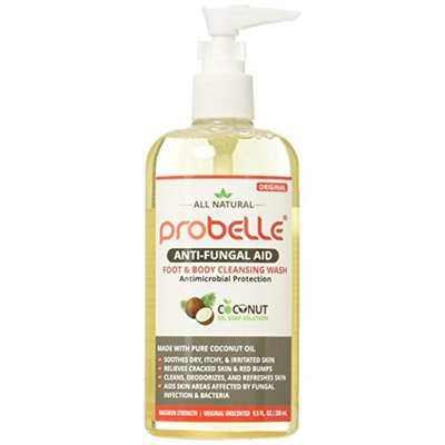 Antifungal Soap from Pure Coconut Oil with Antimicrobial Protection. Aids Skin Areas Affected by Fungal Infection & Bacteria. Maximum Strength, Original Unscented. 9.5 oz/ 280 mL