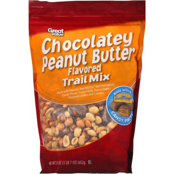 Great Value Chocolatey Peanut Butter Trail Mix, 23 oz