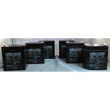 Universal Power Group NP5-12 Home Alarm Battery 12v 5ah SLA UB1250-6 Pack