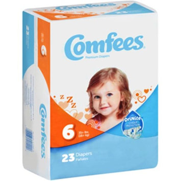 Comfees CMF-6 Disposable Baby Diapers, Size 6 - 92 per Case