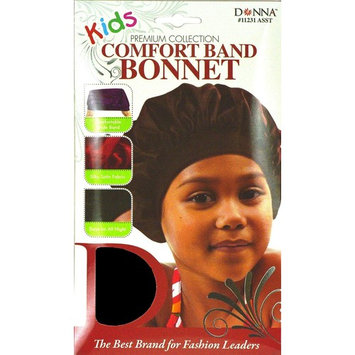 Donna Premium Collection Kids Comfort Band Bonnet Black 11232