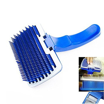Pet Dog Cat Grooming Self Cleaning Slicker Brush Comb Shedding Tool Hair Fur by Pet Brushes