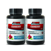 Cranberry kidney - CRANBERRY CONCENTRATED 252Mg with Vitamins C and E - Immune defense - 2 Bottles 120 softgels