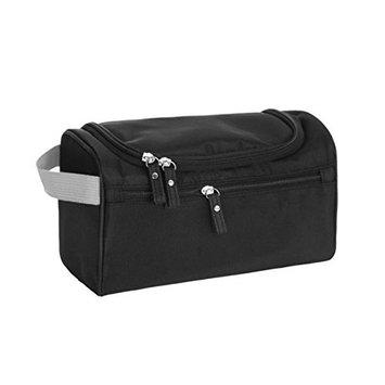 BeeChamp Travel Toiletry Accessories Bag Hanging Organizer for Bathroom Shower Cosmetics Shaving Grooming Kit, Black