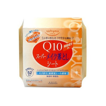 Kose Cosmeport Softymo Super Makeup Cleansing Sheet Q10 52 sheets Refill by Kose softymo