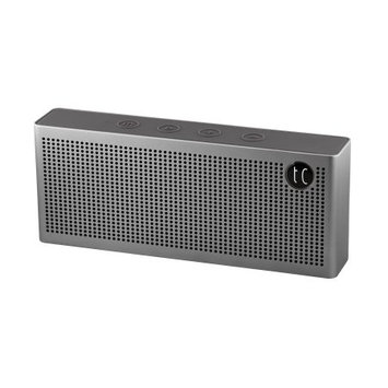 TechComm SD-T6 Bluetooth Speaker with Round Rare Earth Dual 8W Speaker, High-Quality Aluminum Shell, Powerful Battery and Auxiliary Input, for Music and Hands-Free Calling