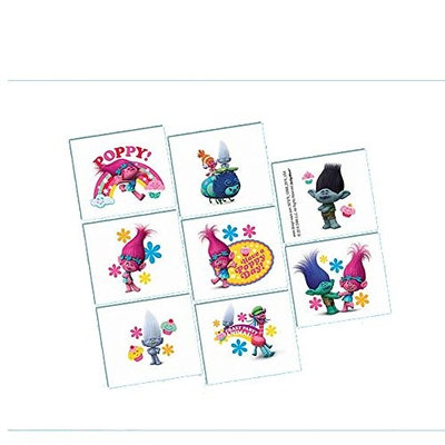 Trolls Tattoos, 1 sheet with 8 squares