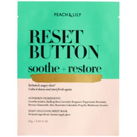 Peach & Lily Reset Button Soothe + Restore Sheet Mask, 0.85 fl oz