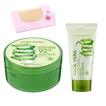 Nature Republic Skin Soothing Moisture Aloe Vera 92% Natural Gel Value Pack of 4