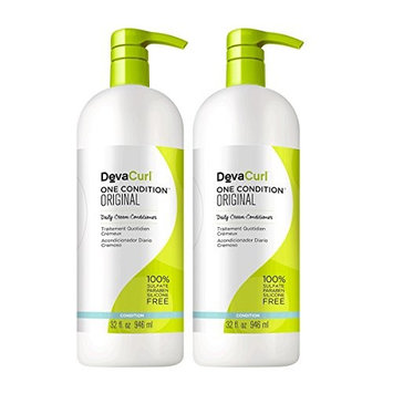DevaCurl One Condition Original; Cream Hair Conditioner; Sulfate; Paraben and Silicone Free; Detangle; Control Frizz and Hydrate; 32 Ounce; 2-Pack