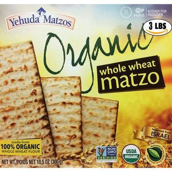 Yahuda Matzos Ancient Grain Organic Spelt Matzo Kosher For Passover 10.5 oz. Pack of 3.