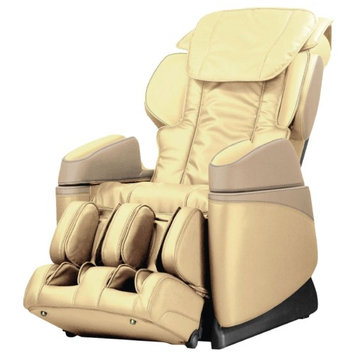 OSAKI OS-3700B Massage Chair with Industrial Design in Cream Color