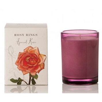 APRICOT ROSE Rosy Rings Botanical 17.5 oz Glass Jar Candle