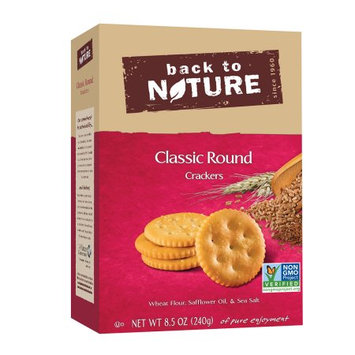 Back To Nature Foods Back To Nature Crackers, Classic Round, 8.5 Oz