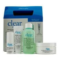 Philosophy Clear Days Ahead Kit: Cleanser 90Ml/3Oz + Moisturizer 15Ml/0.5Oz + Treatment Pads 30 Pads + Spot Treatment 7M