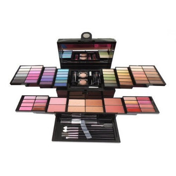 Cameo Cosmetics Mega Beauty Set - Double Layer of Eyeshadows, Powders , Brushes and More - BB1100