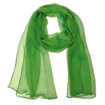 Wrapables® Solid Color 100% Silk Long Scarf, Green