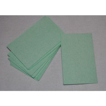 Compressed Cellulose Rectangular Sponges - Light Green - Pack of 12