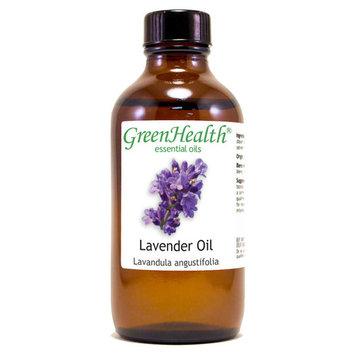 Lavender Essential Oil - 4 fl oz (118 ml) Glass Bottle w/ Cap - 100% Pure Essential Oil by GreenHealth
