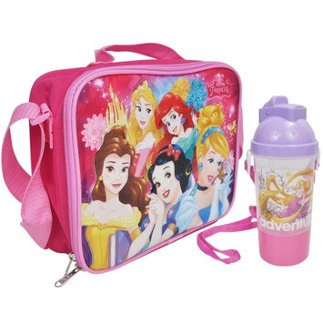 Disney Princess Girls Lunch Bag and Water Bottle 2Pc Set