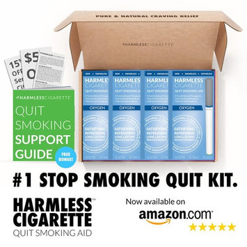 Harmless Cigarette Quit Kit Set/Stop Smoking Aid/Includes FREE Quit Smoking Support Guide. (4 Pack Quit Kit, Oxygen)