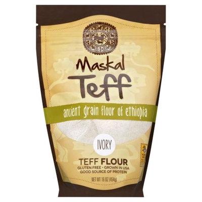 Maskal Teff Gluten Free Teff Flour, Ivory, 16 Oz