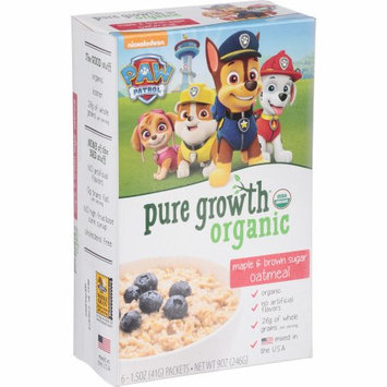 Pure Growth Organic Foods, Llc Pure Growth ® Organic Maple & Brown Sugar Oatmeal 6-1.5 oz. Packets
