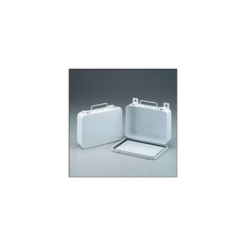 16 Unit- empty metal case- hinged w/ gasket- 9-1/16 in. x 6-5/16 in. x 2-3/8 in. - horizontal- 1 ea.