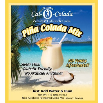 Sugar Free Pina Colada Cocktail Mix 0 Calorie Carb 100% Natural Diabetic Skinny Cal-0-Colada - 44 Serving 2.5 Gal Frozen Drink Machine Pk