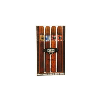Cuba Variety By Cuba For Men. Set-4 Piece Variety spray With Cuba Gold, Blue, Red & Orange & All Are EDT spray 1.17 Ounces