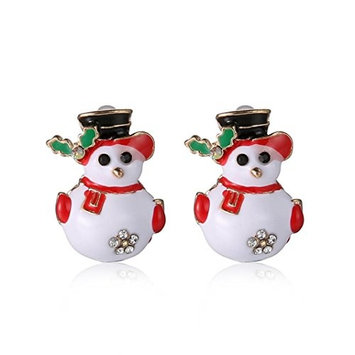 AMA(TM) Women Christmas Fashion Joker Snowman Gifts Animal Stud Earrings