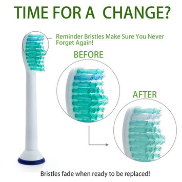 8PCS Phillips Sonicare ProResults Electric Replacement Brush Heads for Diamond Clean w/ Reminder Bristles