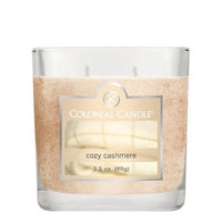 Colonial Candle 3-1/2-Ounce Scented Oval Jar Candle, Cozy Cashmere