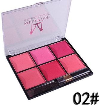 RNTOP 6 Colors Blush Makeup Natural Baked Blusher Powder Palette Cheek Color Make up