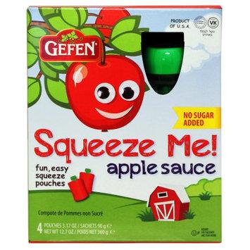 Gefen Apple Sauce Pouches, Unsweetened, 3.17 Oz, 4 Ct