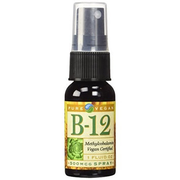 Pure Vegan Vitamin B12 Methylcobalamin Spray, 1 Ounce [1-Pack]