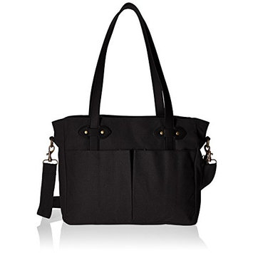 SoYoung Emerson Diaper Tote/Stroller Bag - Unisex - Attractive Minimalist Design - Includes Removable Drawstring Bottle Cooler - Black