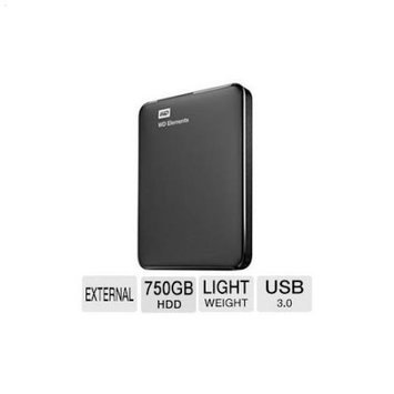 WD Elements 750GB USB 3.0 Portable Hard Drive
