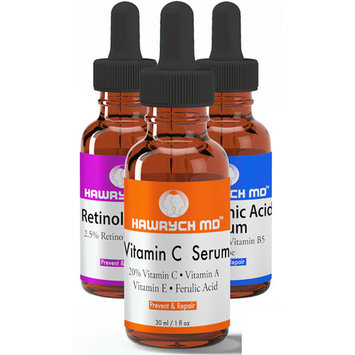 Hawrych MD 20% Vitamin C Serum 2.5% Retinol Serum and Hyaluronic Acid Serum Set