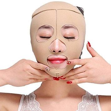 Doinshop Face Slimming Cheek Mask, Full Face Lift Mask Slimming Facial Massage Bandage, Chin Lift Up Anti Wrinkle Mask, V Face Line Slim up Belt (L)