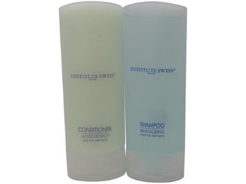 Institute Swiss Moisturizing Conditioner And Shampoo Lot of 24. 12 of each 0.75oz Bottles.