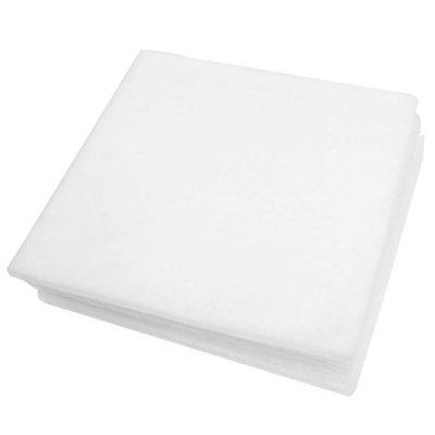 3 Pcs Biochemical Filtration Filter Sponges White 45cmx45cm for Fish Tank